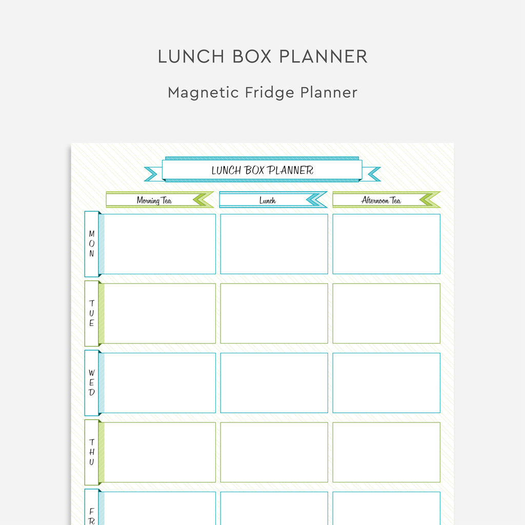 Magnetic Lunch Box Planner