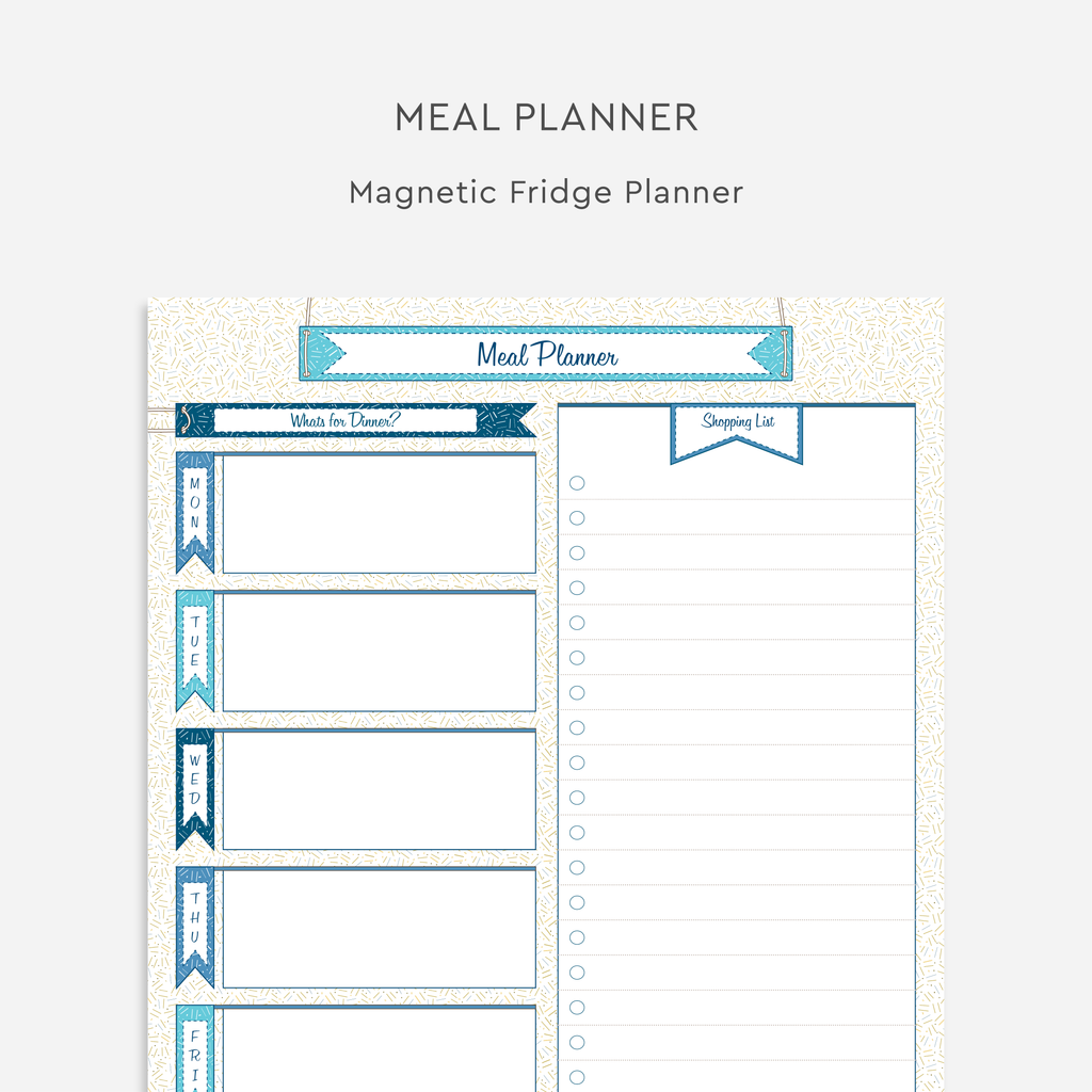 Magnetic Meal Planner