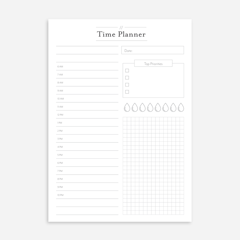 Time Planner A5 Notepads