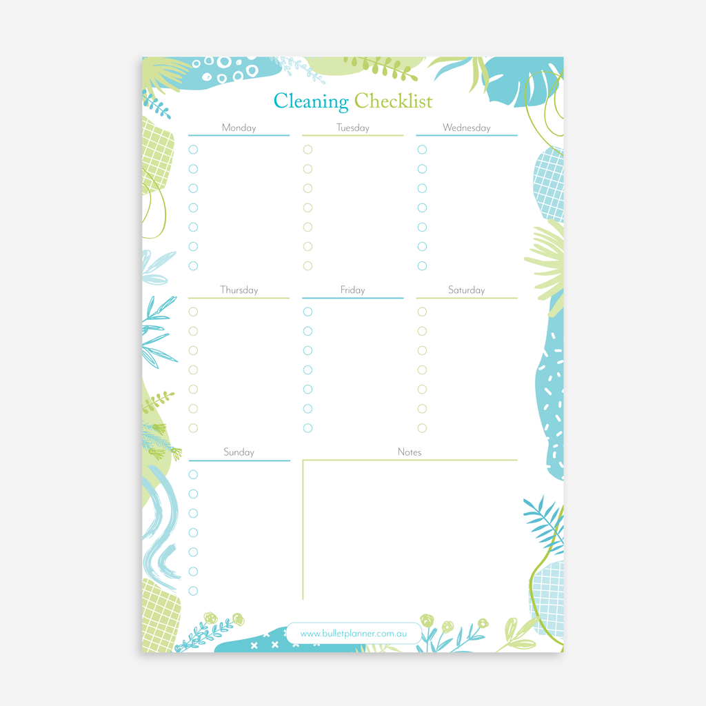 Cleaning Checklist A5 Notepads