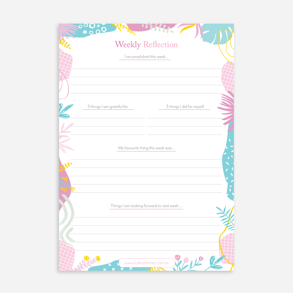 Weekly Reflection A5 Notepads