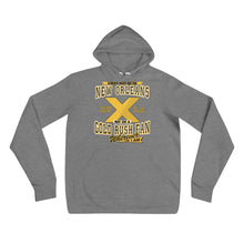 Load image into Gallery viewer, Premium Adult Wherever I Am- Xavier Gold Rush Fleece Pullover Hoodie