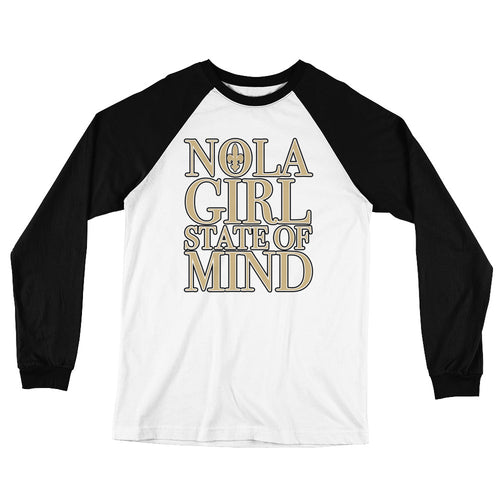 Adult  NOLA Girl State of Mind Two Tone T-Shirt (LS)