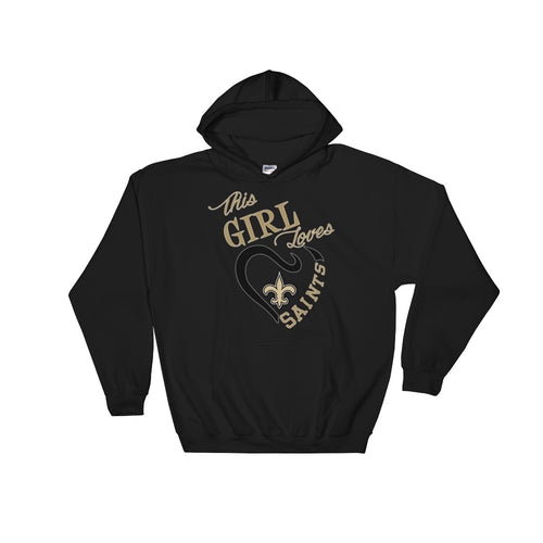Adult This Girl Loves The Saints Hooded Sweatshirt
