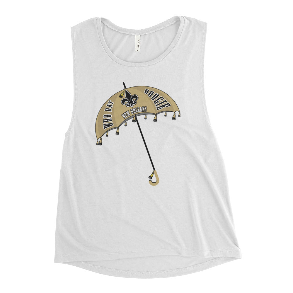 Ladies' Who Dat Boogie Muscle Tank