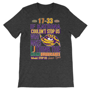 Premium Adult LSU vs Miami 2018 T-Shirt (SS)