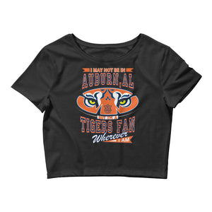 Premium Women's Wherever I Am- Auburn Tigers Crop Tee