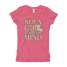 Load image into Gallery viewer, Girl's NOLA Girl State of Mind (LA) T-Shirt (SS)