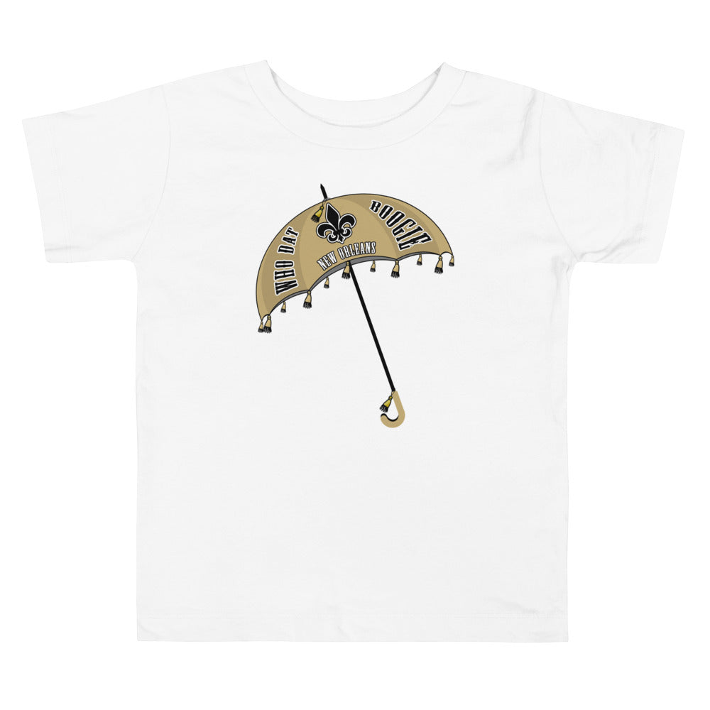 Toddler Who Dat Boogie Short Sleeve Tee