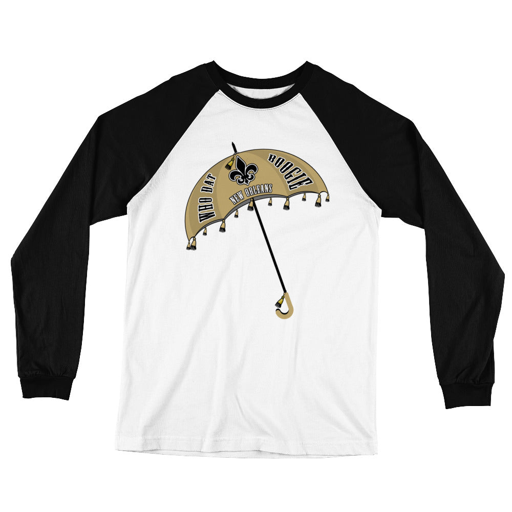 Adult Who Dat Boogie Two Tone T-Shirt (LS)
