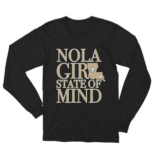 Premium Adult NOLA Girl State of Mind (LA) T-Shirt (LS)
