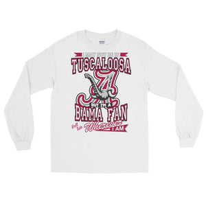 Adult Wherever I Am- Alabama Crimson Tide  T-Shirt (LS)