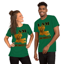 Load image into Gallery viewer, Premium Adult Short-Sleeve Unisex I AM LAKE CHARLES T-Shirt