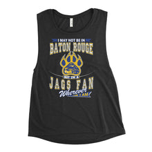 Load image into Gallery viewer, Premium Ladies' Wherever I Am- Southern Jaguars Muscle Tank