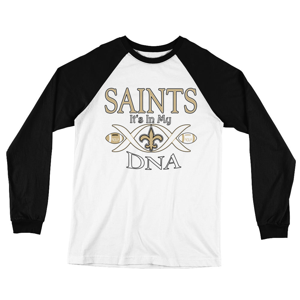 Adult Saints In My DNA T-Shirt (LS)