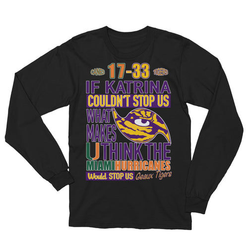 Premium Adult LSU vs Miami 2018 T-Shirt (LS)