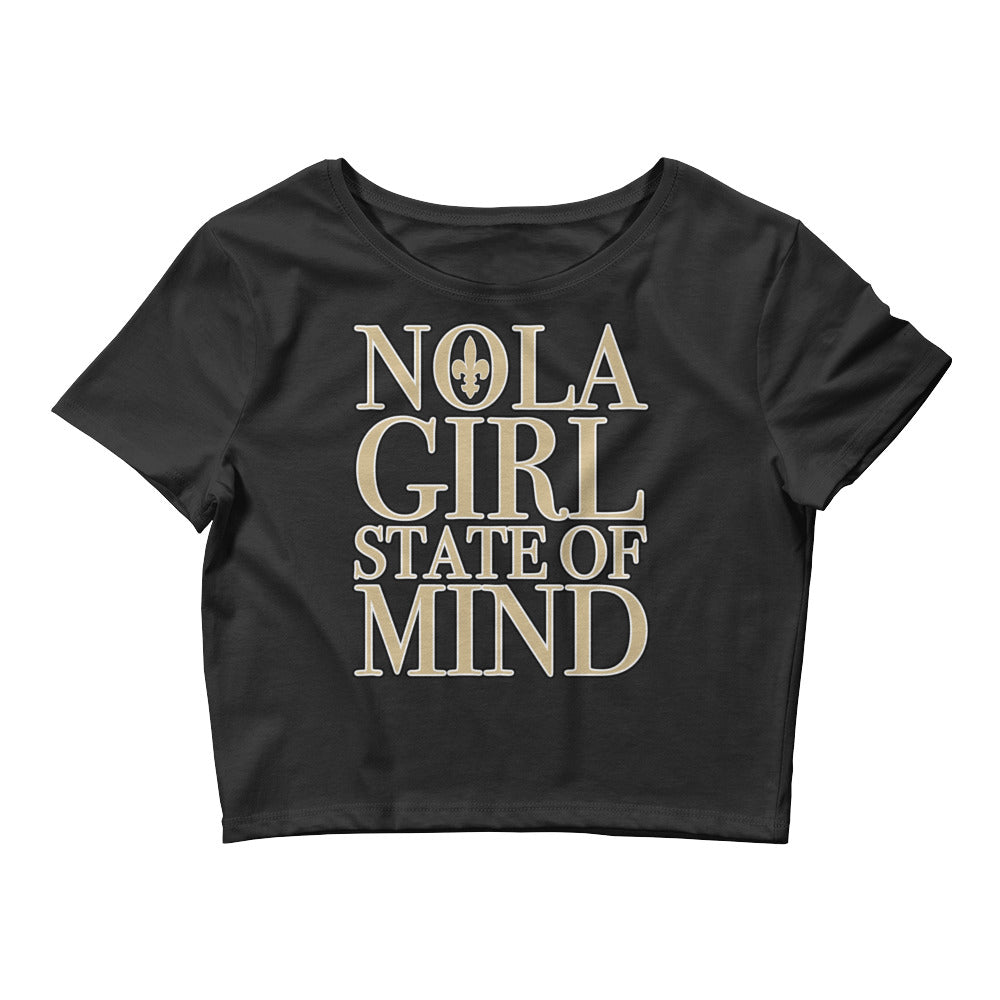 Women's NOLA Girl State of Mind Crop Tee