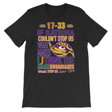 Load image into Gallery viewer, Premium Adult LSU vs Miami 2018 T-Shirt (SS)