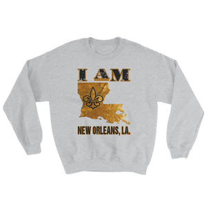 Adult Unisex I Am- New Orleans Crewneck Sweatshirt