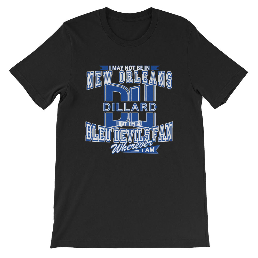 Premium Adult Short-Sleeve Blue Devil Fan- Wherever I Am T-Shirt