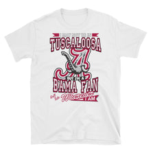 Load image into Gallery viewer, Adult Short-Sleeve Unisex Alabama Fan Wherever I Am T-Shirt