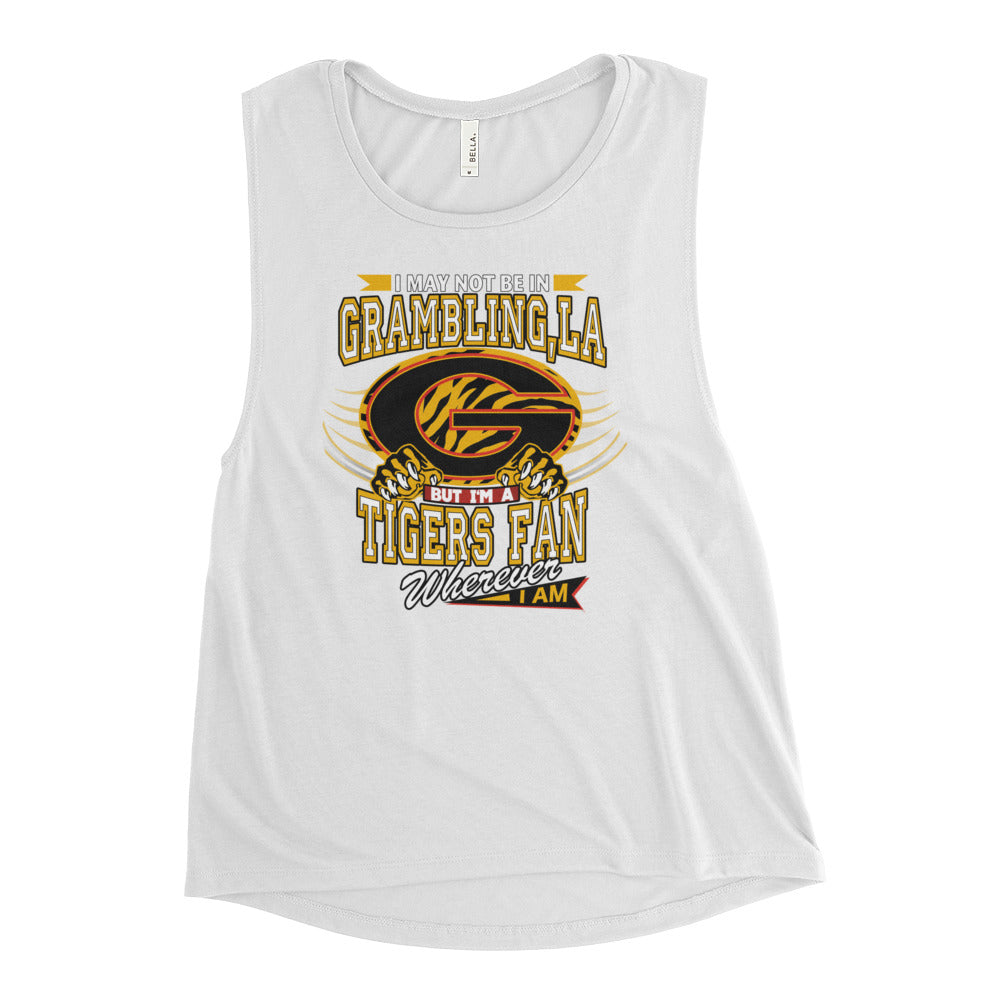 Premium Women Wherever I Am- Grambling Tigers Muscle Tank