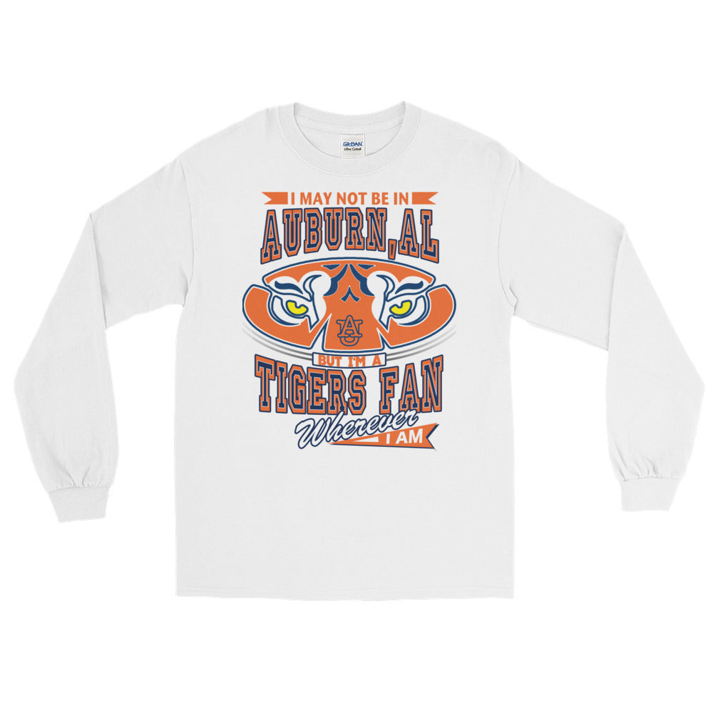 Adult Wherever I Am- Auburn Tigers T-Shirt (LS)