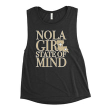 Load image into Gallery viewer, Ladies' NOLA Girl State of Mind (LA) Muscle Tank