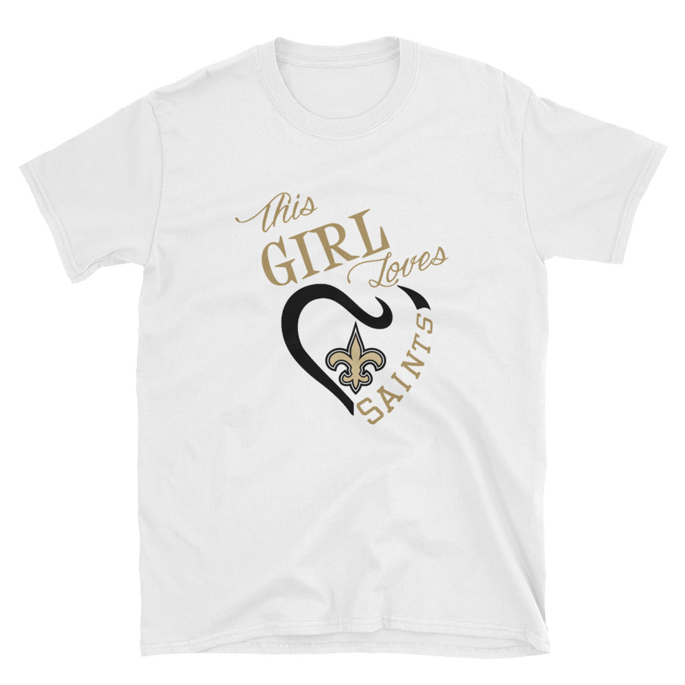 Adult This Girl Loves Saints T-Shirt (SS)