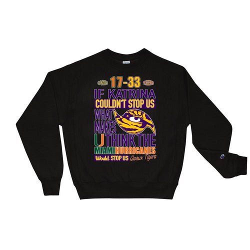 Premium Adult LSU vs Miami 2018 Crewneck Sweatshirt