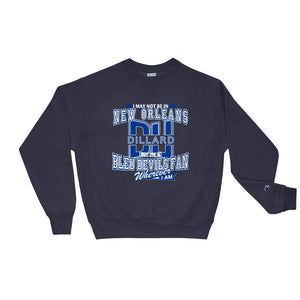 Premium Adult Dillard Fan Wherever Fan I Am Champion Crewneck Sweatshirt