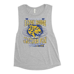 Premium Ladies Southern Fan Wherever I Am Muscle Tank
