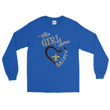 Load image into Gallery viewer, Adult This Girl Loves The Saints T-Shirt (LS)