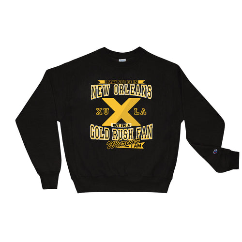 Premium Adult Wherever I Am- Xavier Gold Rush Crewneck Sweatshirt