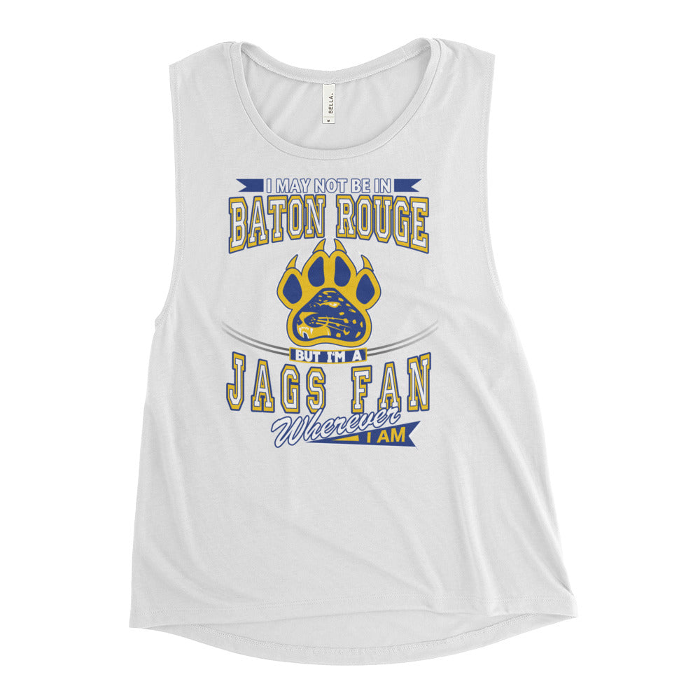 Premium Ladies' Wherever I Am- Southern Jaguars Muscle Tank