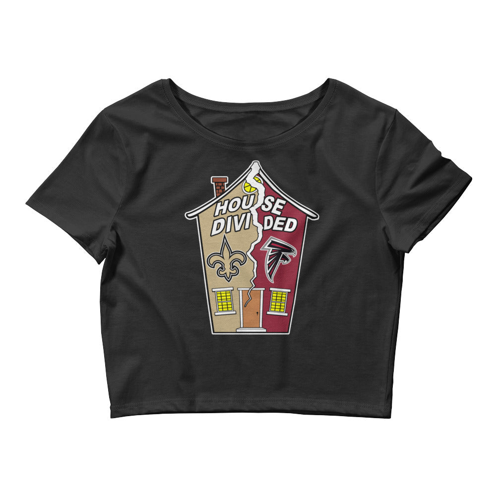 Premium Women's House Divided Saints/Falcons Crop Tee