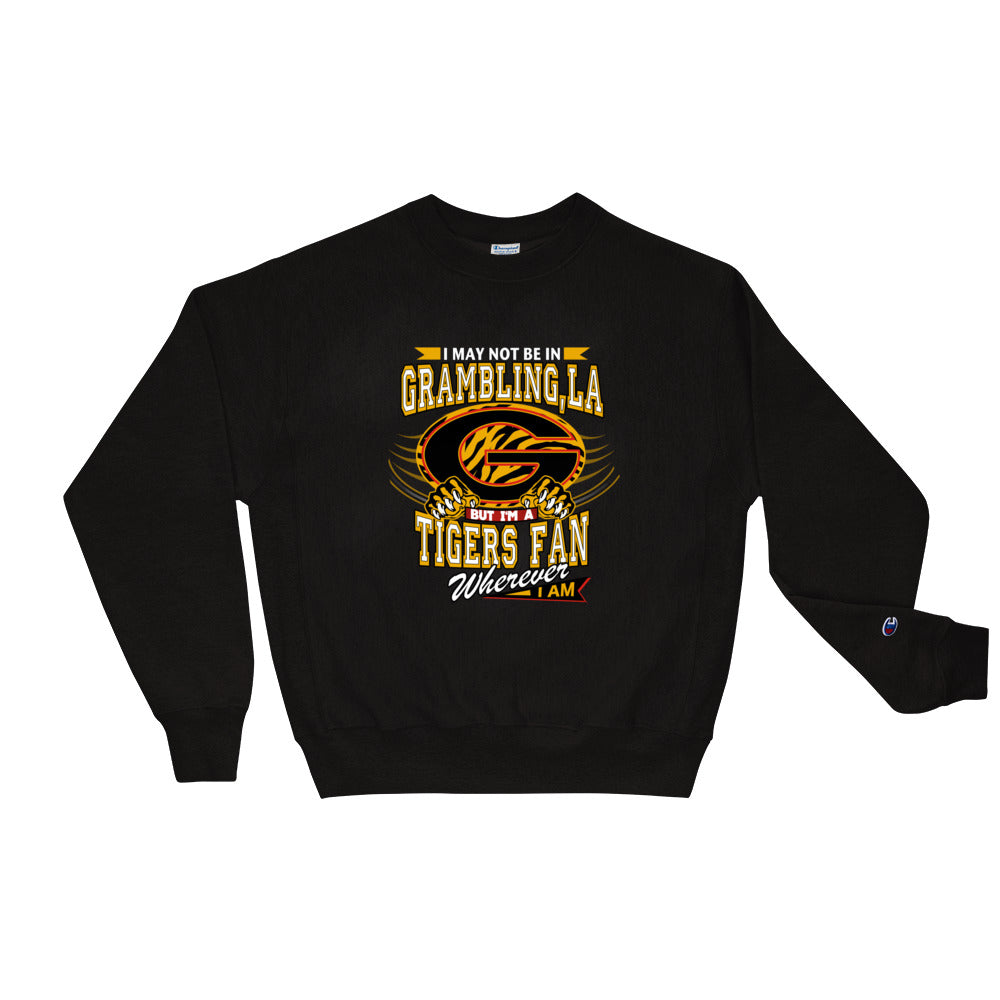Premium Adult Wherever I Am- Grambling Tigers Crewneck Sweatshirt