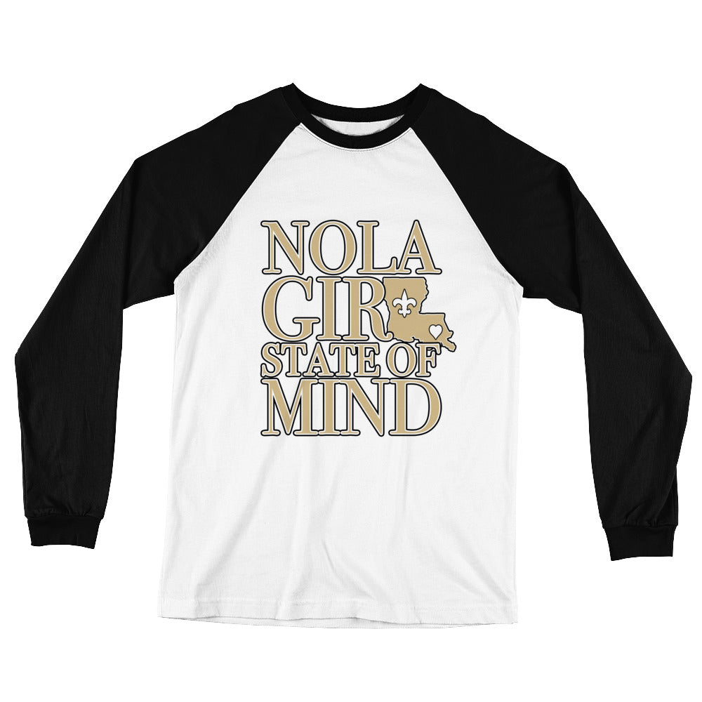 Adult NOLA Girl State of Mind (LA) Two Tone T-Shirt (LS)