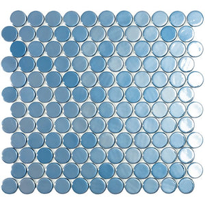Gresite Vidrepur Circle Dark Blue Brillo 6004 (Caja 1,19m2)