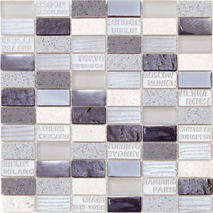 MOSAICO DECOR STAMP GRIS