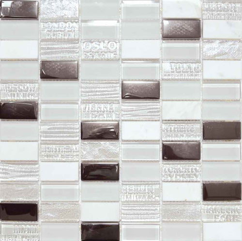 MOSAICO DECOR STAMP BLANCO