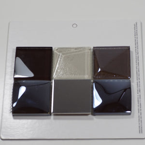 MOSAICO DECOR SQUARES CHOCOLATE