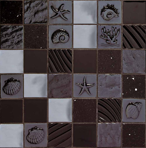 MOSAICO DECOR SEA NEGRO