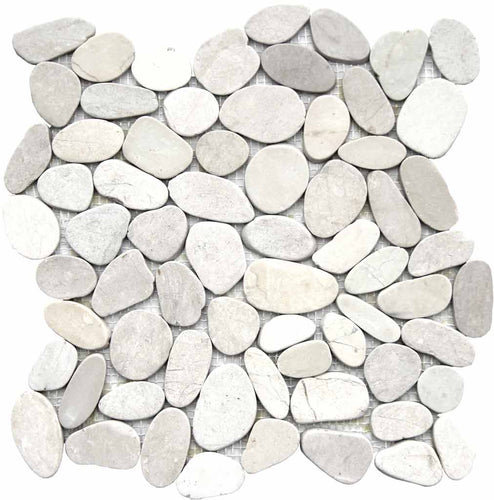 MOSAICO PEBBLE DECOR RIO EBRO BLANCO