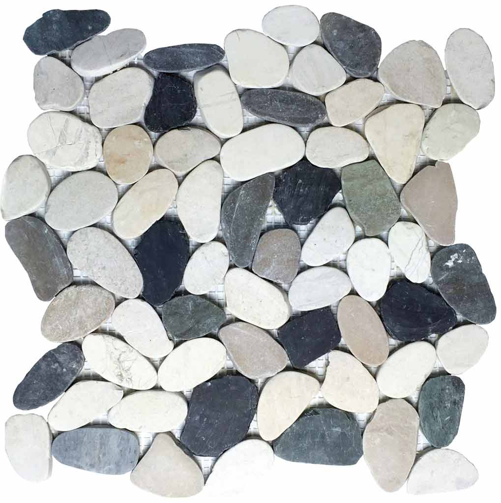 MOSAICO PEBBLE DECOR RIO EBRO ZEN MIX