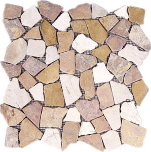 MOSAICO PEBBLE DECOR RIO TAJO CORAL MIX