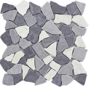 MOSAICO PEBBLE DECOR RIO TAJO GRIS MIX
