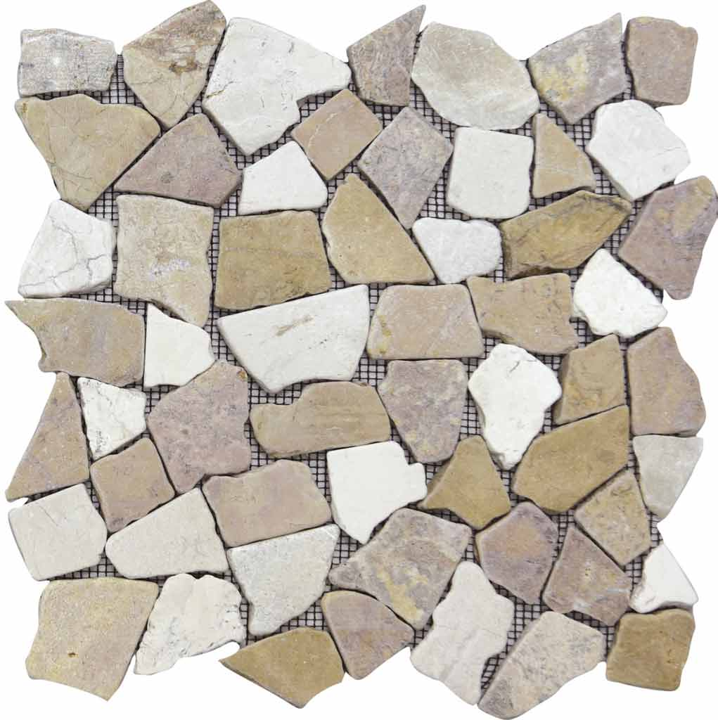 MOSAICO PEBBLE DECOR RIO TAJO SALMON MIX