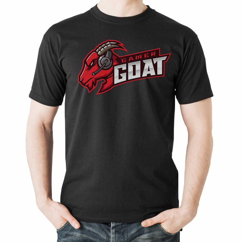 Gamer Goat T-Shirt (Black)