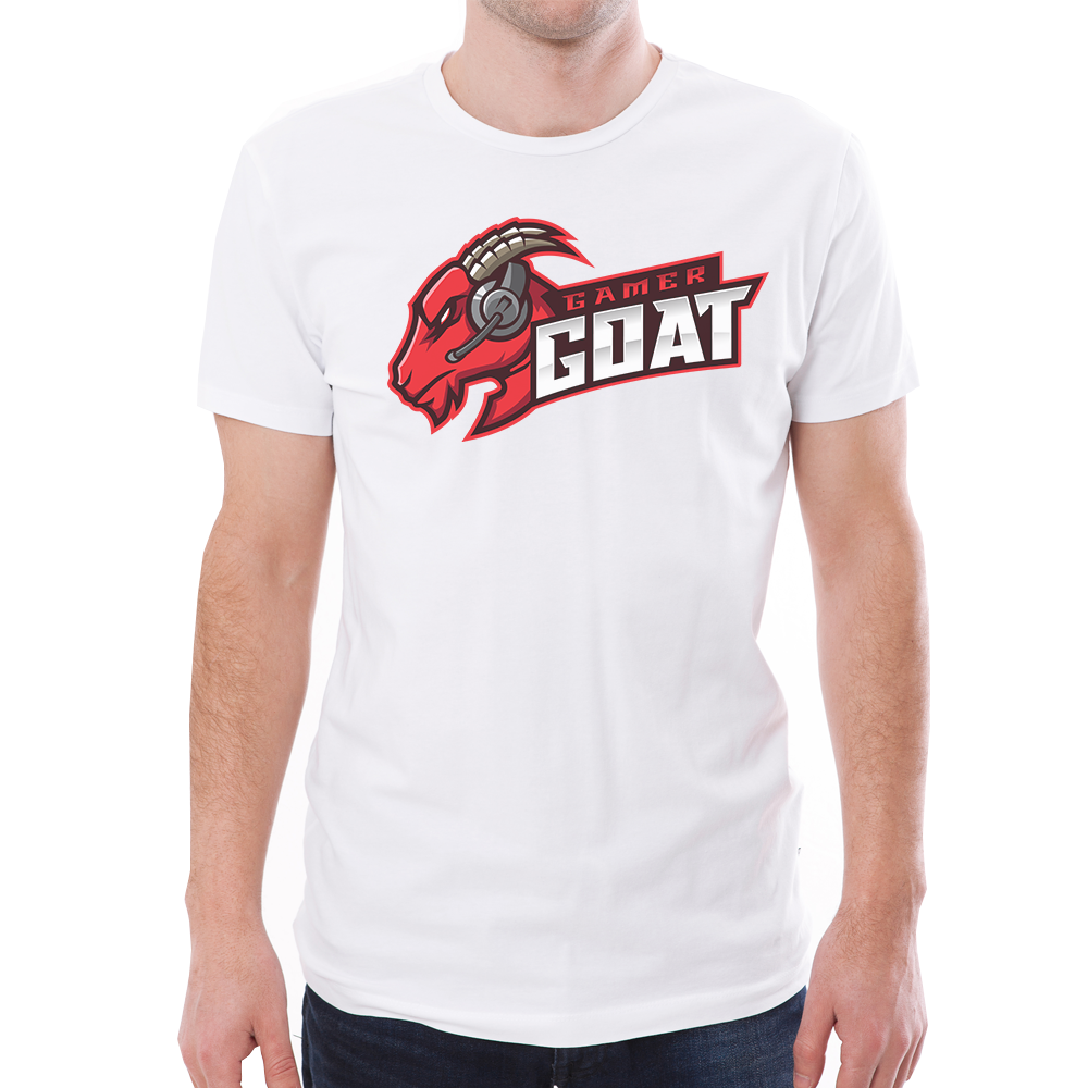 Gamer Goat T-Shirt (White)